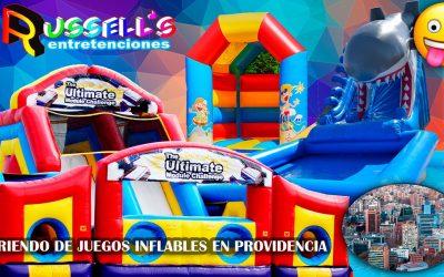 Arriendo de juegos inflables en Providencia